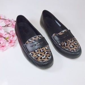 Vionic Black Chill Piper Driving Moc Loafer Sz 7.5